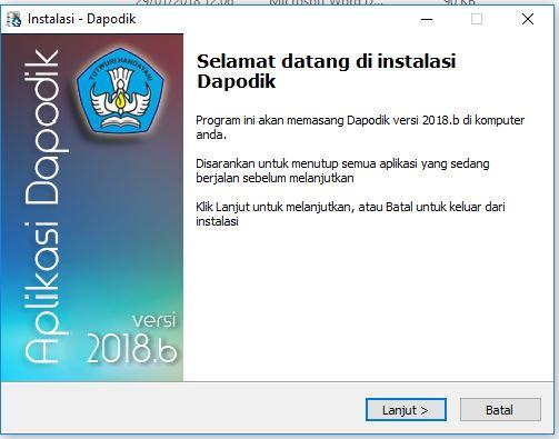 Cara Download dan Install Aplikasi Dapodik Versi 2018.b
