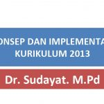 Download Slide Presentasi Konsep dan Implementasi Kurikulum 2013 Revisi 2018